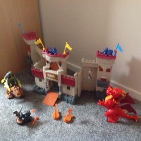Fisher Price Imaginext Interractive Castle, Dragon & Extras