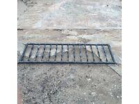 Pair of metal black decorative railings £15 pair