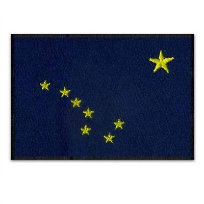 "ALASKA STATE FLAG IRON ON PATCH 3"" Blue Big Dipper Embroidered Applique Biker"