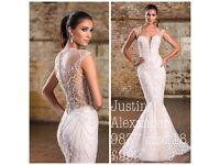 Justin Alexander 9837 size 18 nude wedding dress