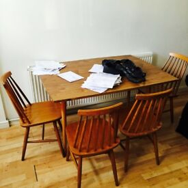 Dining Table With Four Chairs/Stools Wood