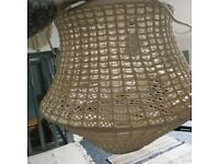 Ikea crochet lamp shade