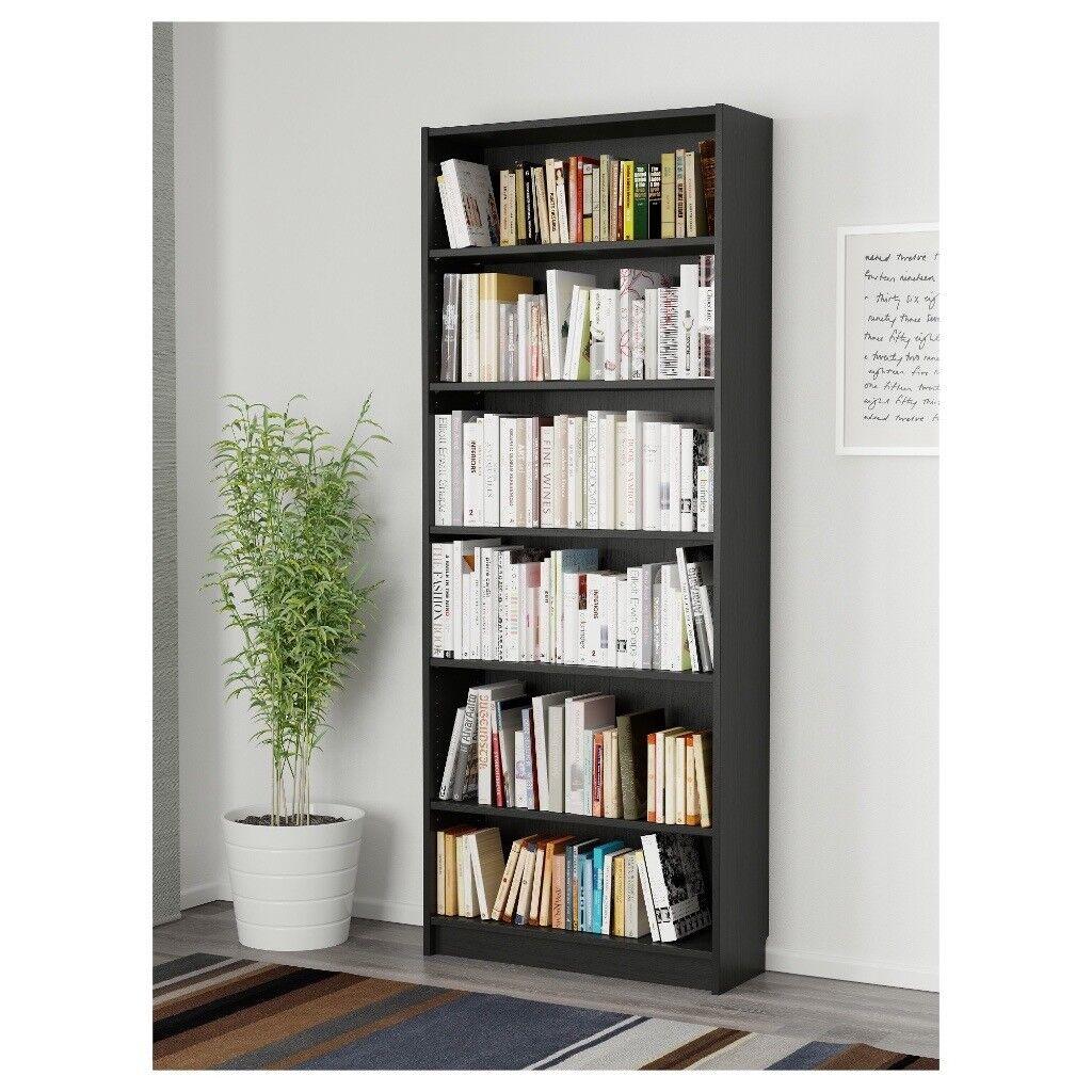 Dark Brown Billy Bookshelf Multiple Available