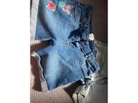 Girls Denim Shorts 11-12 / 12-13