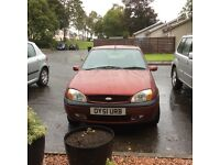 REDUCED PRICE FOR QUICK SALE,,,,,,,FORD FIESTA 2001, 5door , mot end June 2017, TOW BAR, ALLOYS
