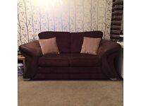 DFS chocolate brown sofas