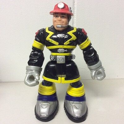Rescue Heroes Action Figure Toy 2001 Mattel Fire Rescue Command