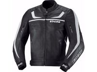 IXS SHERTAN MOTORBIKE LEATHER JACKET.. NEW with TAGS (Original Value= 280 GBP)