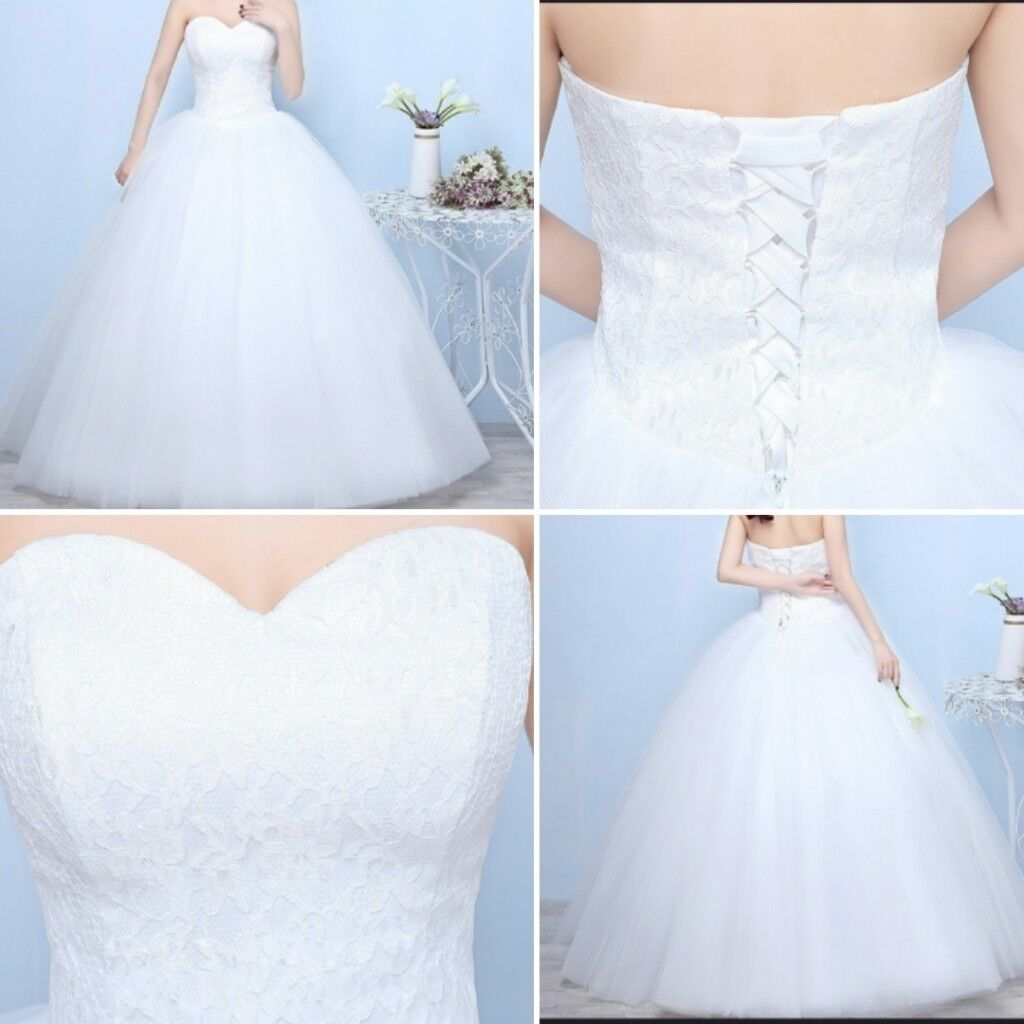 New princess cut wedding dress.size 10-12.never worn! | in Ilkeston ...