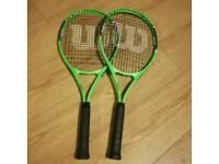 2 Adult Wilsons tennis racquets