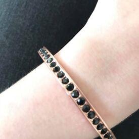 Ted Baker Rose gold bracelet with black stones