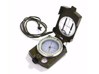 Compass Waterproof Hiking Military Navigation Compass with Pouch Lanyard