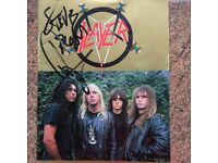 Slayer Reign in Blood 1986 Tour Programme signed