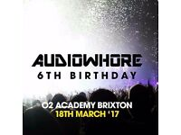 1 x Ticket for Audiowhore 6th Birthday. 18/03/17