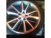 """Set of four 5 stud 18"""" alloys with all new tyres"""