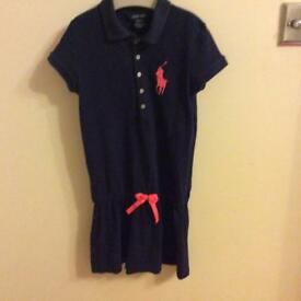 Ralph Lauren girls polo dress age 8-10 years