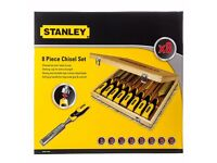 Stanley Set of 8 Dynagrip Chisel Set in Presentation Case - STHT1-16179