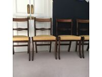 Set of Four Beautiful Vintage Dining Chairs - Dark Wood