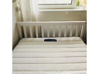 New double white bed frame