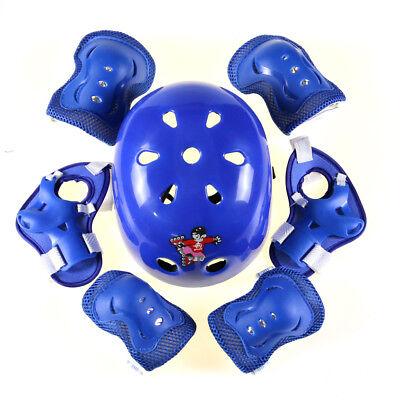 Safety Gear Pad/Helmet Skateboard Roller Blading Elbow Knee Wrist Protective Pad