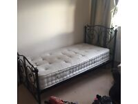 SINGLE BED WITH MATTRESS £50!!