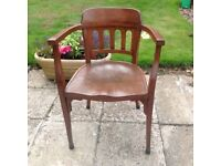 Beautifully restored wooden Directot's chair.