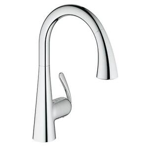GROHE 32298001 Ladylux Cafe 1 Handle Pull-Down Kitchen Faucet, Starlight Chrome