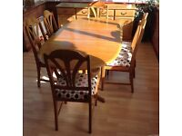 Elm Dining table, 8 chairs and sideboard handcrafted by Cousin & Matthews. Dining set