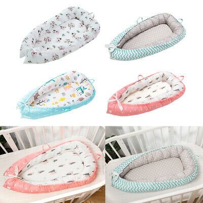 Comfortable Baby Lounger Pure Cotton Baby Nest Bed Newborn Lounger Bassinet