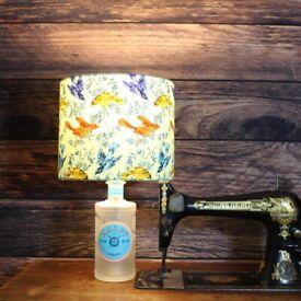 Malfy Rosa - Handmade Bottle Lamp With Shade