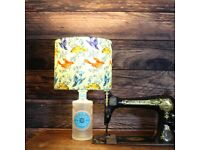 Malfy Rosa - Handmade Bottle Lamp With Shade