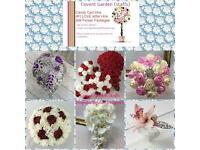 Silk,Foam ,Brooch or Silk Ribbon Bespoke Bridal Flower packages