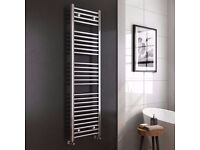 BRAND NEW KUDOX TOWEL RAIL CHROME 600 X 1600 (RRP £150)