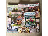 38 pcs of Country Living UK magazine