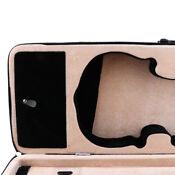 Shoulder Carry 4/4 Size Violin Case Box w/ Hygrometer 77 x 25 x 13cm Black