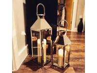 55 cm Silver Stainless Steel Hampton Lantern