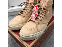 VANS TAN SK8 RE-ISSUE ZIP SIZE 7.5 UK - BRAND NEW BOXED