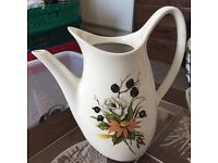 Floral jug and matching side plates