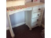 Shabby chic pine dressing table