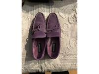 Men's purple suede shoes