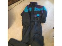 All in one ski suit/ unisex small
