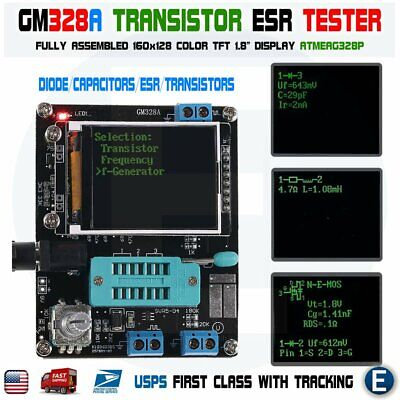 Gm328a English Assembled Transistor Tester Diode Capacitance Esr Atmeag328p Usa