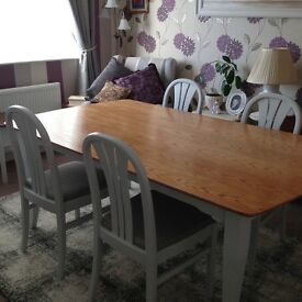 Up cycled table and chairs