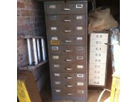 Large Industrial Metal Drawers with Metal Tray Inserts