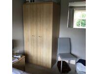 Oak effect 2 door wardrobe