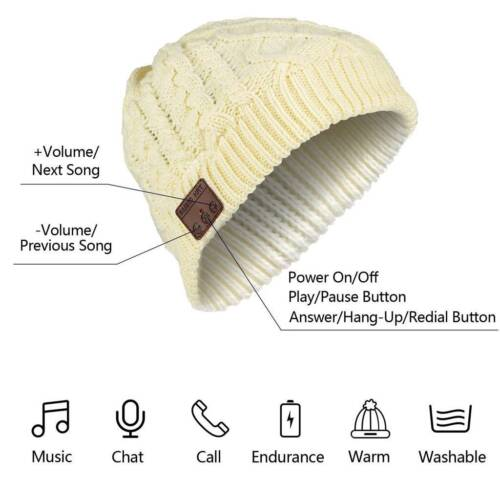 Boy Girl Bluetooth Music Hat Winter Warm Beanie Knitted Smart Cap Stereo Headset Cell Phone Accessories
