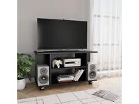 TV Cabinet with Castors Black 80x40x40 cm Chipboard-800190