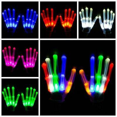 LED Handschuhe Leuchten Finger Beleuchtung Mitt Tanzen Licht - Halloween Leuchten