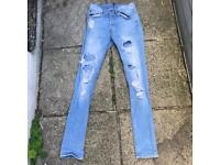 H&M slim fit ripped jeans 28x32