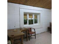 Large 5 legged corner Desk in antique pine £130